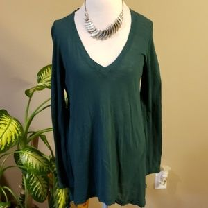 We the free Free People green oversized t-shirt